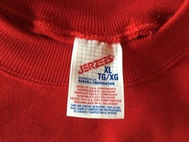 Vtg Deadstock New Jerzees 90'S 50/50 Red Blank Sweatshirt Mens Xl - $20.90