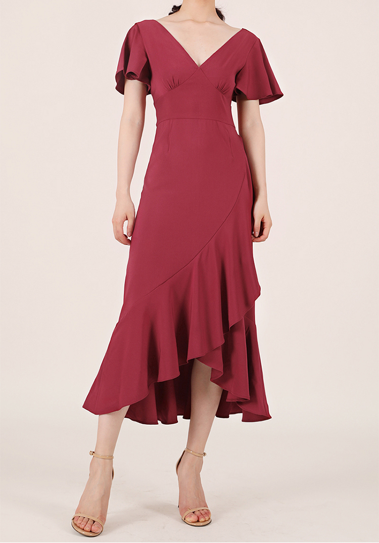 Bridesmaid midi dress capsleeve 3