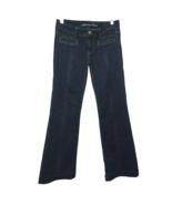 American Eagle Hipster Flare Leg Jeans 6 Stretch AE Dark Wash Center Sea... - $28.86