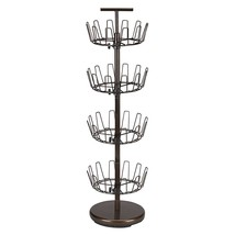 Shoe Rack For Men, Bronze 4-tier Rotating Womens Entryway Organizer Shoe... - $1.879,08 MXN