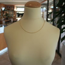 18K YELLOW GOLD CHAIN NECKLACE, BRAID ROPE LINK 17.71 INCHES MADE IN ITALY image 4