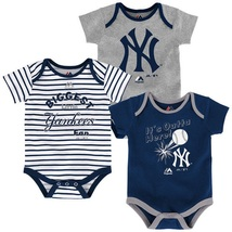 New York Yankees Infant Home Run Bodysuit 3-Piece Set MLB Baby Baseball