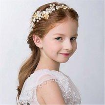 Elezay Princess Wedding Headpiece Crystal Headband Adjustable Ribbon Floral Crow image 3