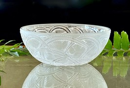 """Lalique Pinsons Bowl Finches in Foliage 9.25"""" Mint Signed & Guaranteed Authentic - $320.76"""