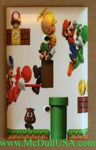 Super Mario brothers 3D Light Switch Duplex Outlet Wall Cover Plate home decor