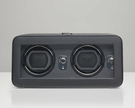 WOLF Windsor Double Watch Winder with Cover (Black) 4526029 Free US Ship... - $499.99