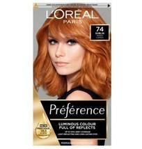 3 x L'Oreal Preference 74 DUBLIN MANGO COPPER Ginger Hair Dye Permanent ... - $44.82