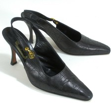 Christian Dior Women's Black Slingback Snip Toe Dress Heels Shoes US 8 IT 38.5 - $170.95