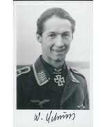 Walter Schuck signed photo. Luftwaffe Ace. 206 kills.E-262 - $38.00