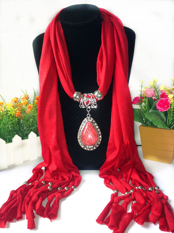 Charms Scarf jellery pendant Scarf Scarves lace Scarf image 15