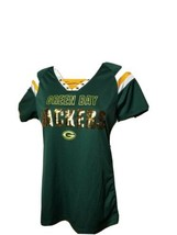 Green Bay Packers Spellout Jersey Womens 1st and Fashion NFL Team Apparel Large - $41.36