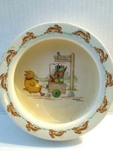 "Vintage Bunnykins Child's Bowl ""The Hunt Ball"" Pattern  - $22.76"