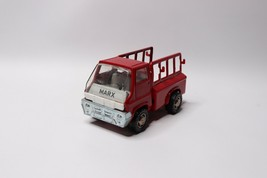 Vintage 1968 Marx Japan Small Metal Toy Truck Farm Truck Red - $31.63
