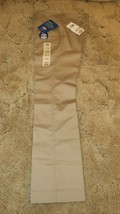 Dickies Girl's Uniform Flat Front Mid-Rise Khaki Stretch Fabric Sz 1 Jr ... - $12.82