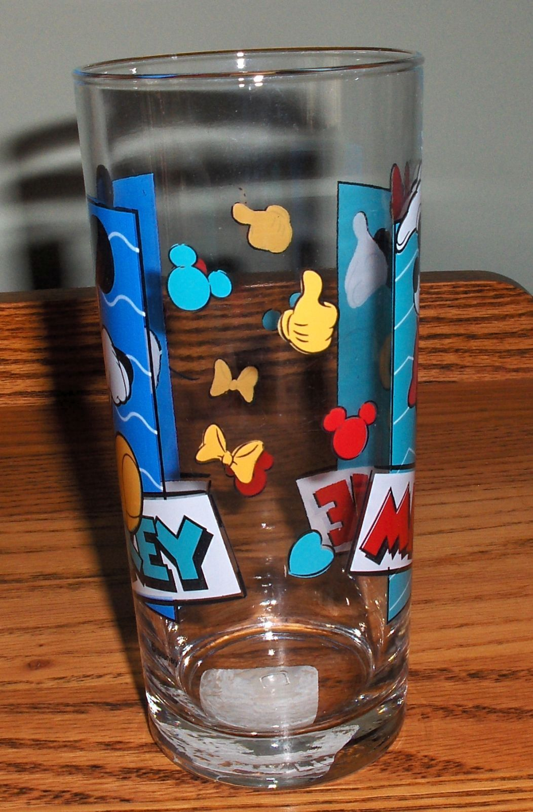 Vintage Anchor Hocking  Disney's Mickey and Minnie Mouse Glass W/Tag