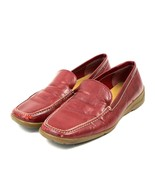 Banana Republic Red Leather Womens Casual Loafers Shoes 7.5 Medium Made ... - $20.00