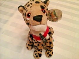 1999 Coca Cola Plush Namibia African Heeta Cheetah  Coke Bottle #0249 - $12.86
