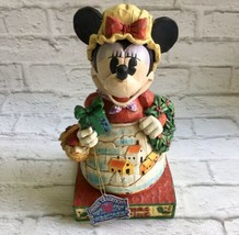 Jim Shore Minnie Mouse Enesco Disney Traditions Christmas is Sharing Figure 2005 - $29.69