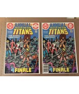 Tales Of The Teen Titans Annual #3 DC Comic Book VF+/NM Direct & Newstst... - $30.02