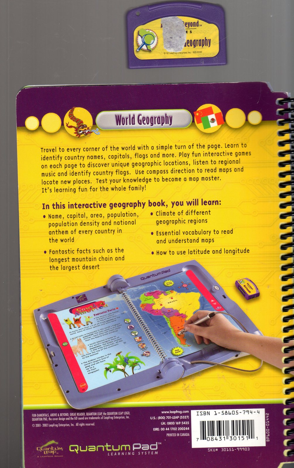 "LeapFrog QuantumPad "" World Geography"""
