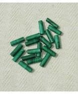 Green Polymer Clay Tube Beads - Jewelry Making Supply - 18 pcs - $1.50