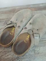 Used BIRKENSTOCK Boston Clog Suede Women Sandal Sz 38 L7 M5 Summer Shoes - $24.70