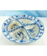 **RARE** Villeroy & Boch Dresden Blue and White Onion Large Divided Serv... - $246.51