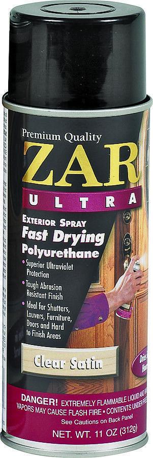 ZAR 34107 11 oz Clear Satin Fast Drying Ultra Exterior Polyurethane Spray