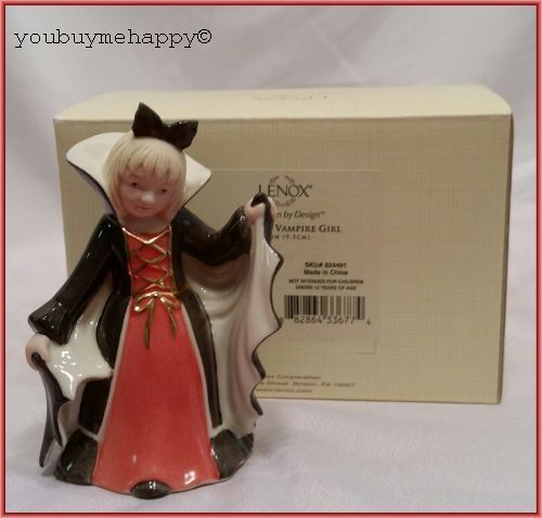 Lenox Halloween Bella The Vampire Girl  Figurine  New in Box