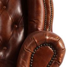 MarquessLife 100%Genunie Leather Handmade Tufted High Back Armchair Antique Sofa image 3