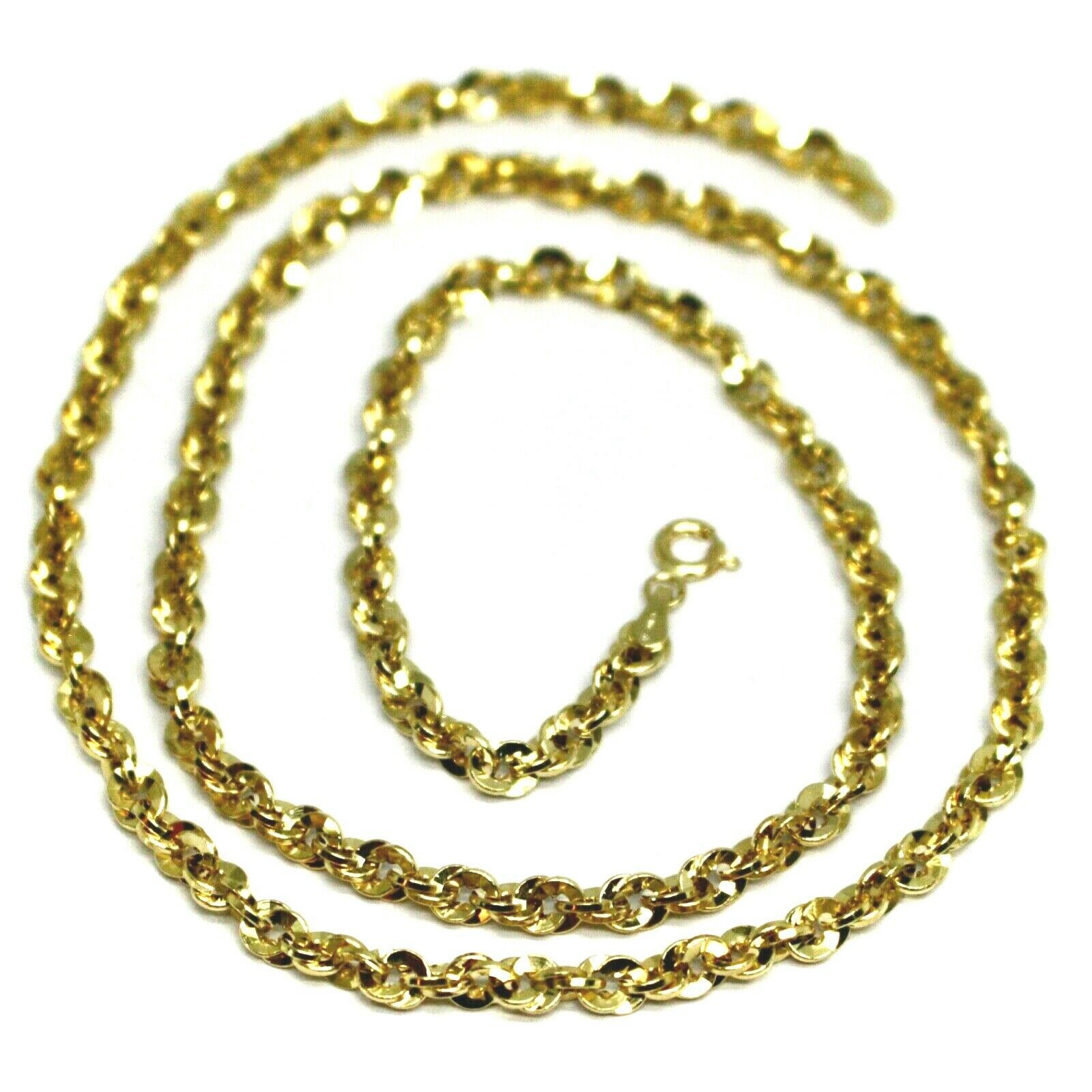 18K YELLOW GOLD ROPE CHAIN, 19.7 INCHES BRAIDED INFINITE FACETED ALTERNATE LINK