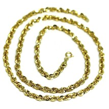 18K YELLOW GOLD ROPE CHAIN, 19.7 INCHES BRAIDED INFINITE FACETED ALTERNATE LINK image 1