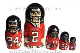 "Atlanta Falcons nesting doll matryoshka doll, babushka doll 5 pc, 6"" - $59.90"