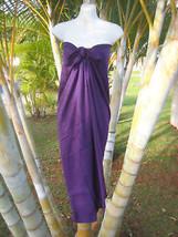 Hawaiian Pareo Sarong Plus Size Solid Purple Coverup Cruise Beach Wrap D... - $19.62