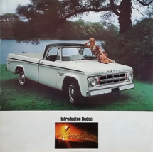 1968 Dodge D-100 ADVENTURER sales brochure catalog Camper 68 US - $10.00