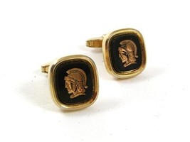 Vintage 1960's Greek or Roman Warrior Cufflinks By FOSTER PAT PEND USA 3... - $18.99