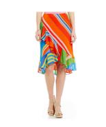 NWT WOMEN LAUREN RALPH LAUREN Parolita  Stripe Ruffle Georgette Skirt si... - $47.02