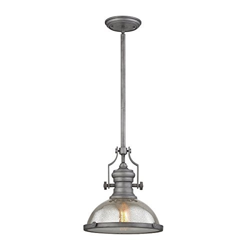 ELK Lighting 66553-1 Ceiling-Pendant-fixtures, 14 x 13 x 13, Gray,14 x 13 x 13' - $219.27