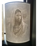 Jesus Christ image lithophane- custom made Catholic glowing picture - $49.45
