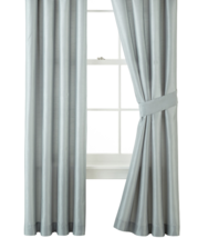 """JCP Home Expressions Panel Pair With Tiebacks, 80"""" x 84"""" Teal Silver Rod... - $23.65"""