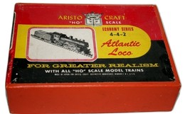 "Aristo Craft ""HO"" 4-4-2 Atlantic Loco Economy Made in Japan Black B & O #48"