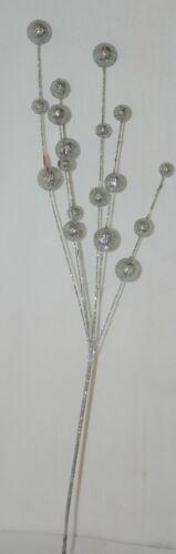 Unbranded CSBRY804 Glittery Silver Holiday Ball Decoration Spray