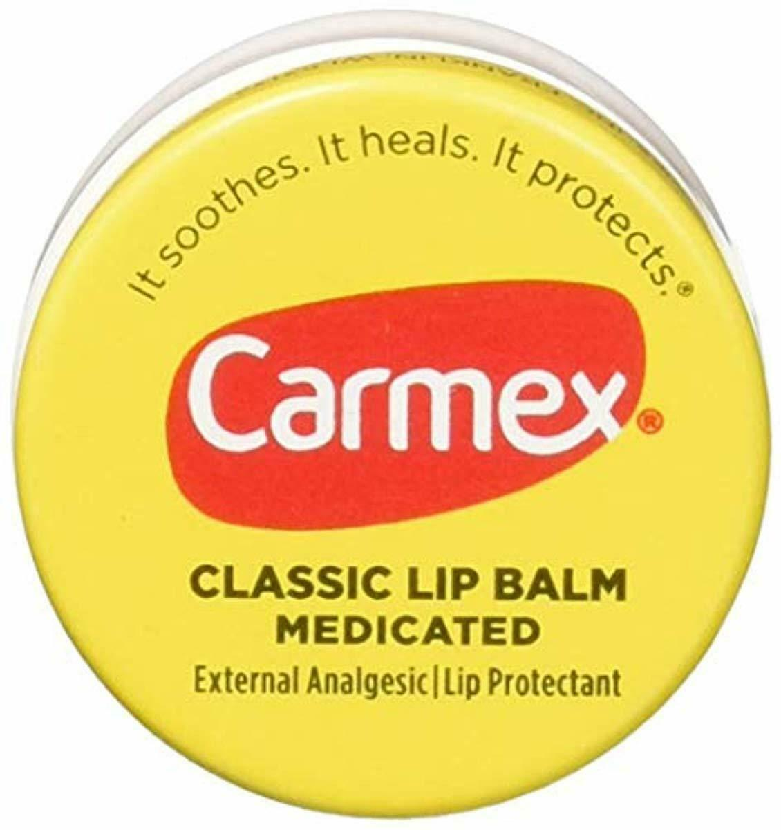 Carmex Classic Lip Balm Medicated 0.25 oz (Pack of 12)