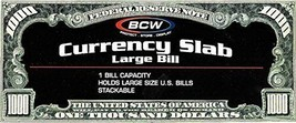 17BCW DeluxCurrency Slab Dollar Bill Case Large Banknote & 3 Regular Sla... - $66.48