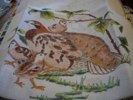 Nantucket Needleworks Quail Needlepoint Canvas Pattern - $65.00