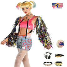 Birds Of Prey Harley Quinn Costume Suicide Squad Sparkle Paddle Hallowee... - $39.58+