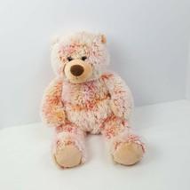 "Build a Bear Plush Teddy Bear Stuffed Animal 16"" Pink Fuzzy Brown Nose - $16.83"