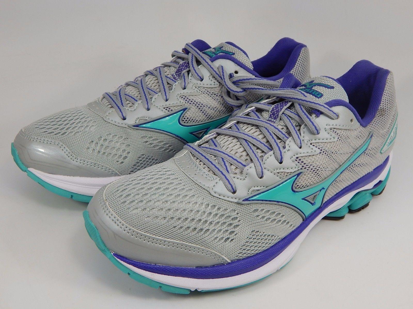 Mizuno Wave Rider 20 Women's Running Shoes Size US 7 M (B) EU 37 Silver Green