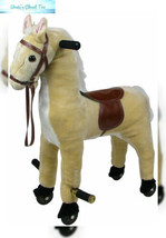 Happy Trails Plush Walking Horse with Wheels and Foot Rest - $66.30