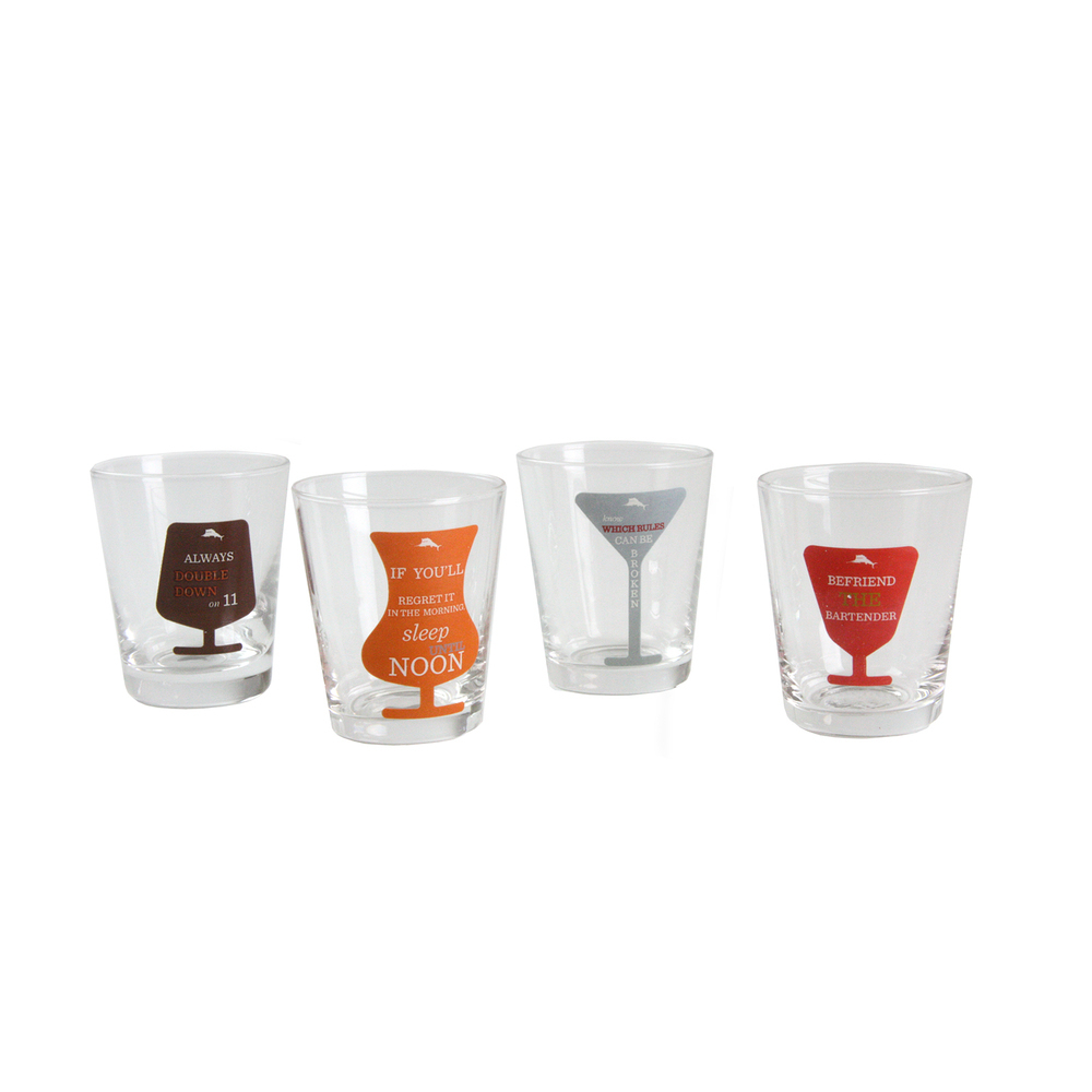 Tommy Bahama Set of 4 1.5 oz Shot Glasses